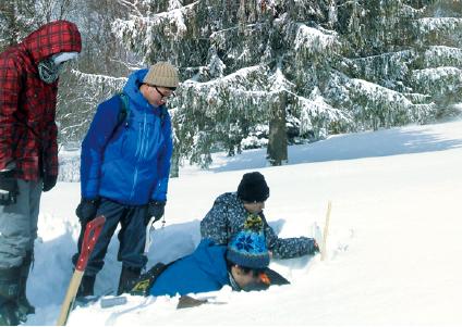 冬期の雪氷気象の実習