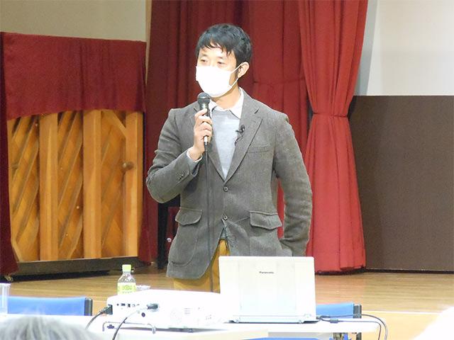 講師を務めた、田中健太准教授